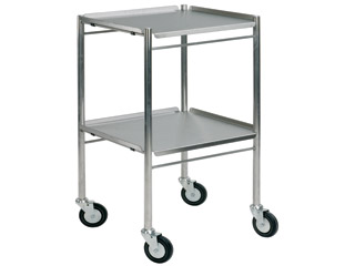 Dressing Trolley 610mm (W) - Stainless Steel with Two Shelves