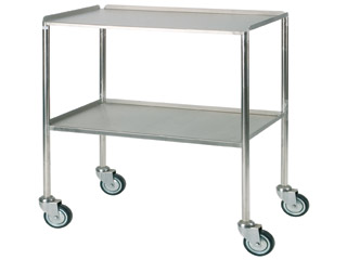 Dressing Trolley 920mm (W) - Stainless Steel with Two Shelves