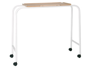 Overbed Table With 4 Castors with Blue Top-Bridge Table