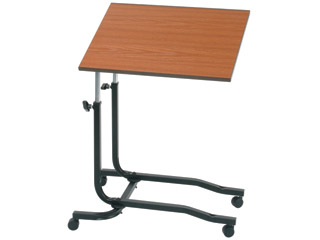 Over Chair Table With Beech Top-With Manual Height Adjustment & Tilt Action