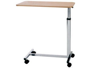 Overbed Table-Economical-Chrome Legs And Beech Top