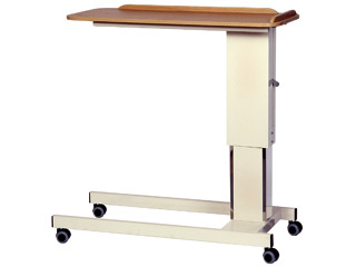 Overbed Table Traditional Twin Leg - Blue Table Top