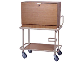 Drug Cabinet Trolley with Doors on both sides & 48 Dispensing Trays