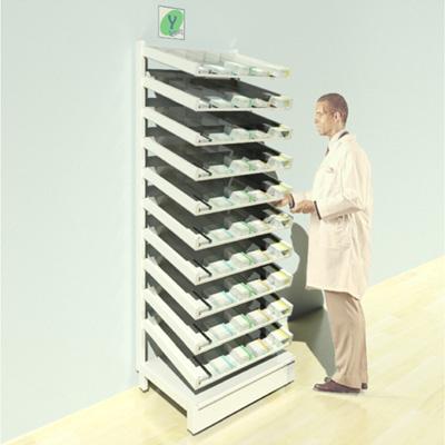 FY-001T Full Height Pharmacy Shelving