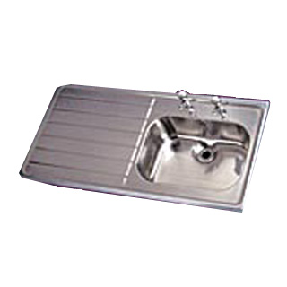 HTM64 1200 x 600 Sit-on Stainless Steel Sink - Bowl on Right