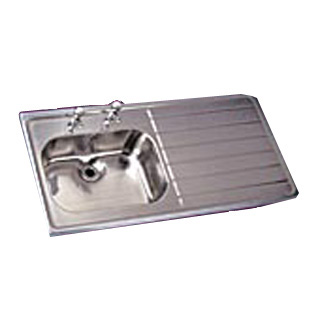 HTM64 1200 x 600 Sit-on Stainless Steel Sink - Bowl on Left