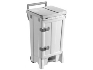Front Opening Plastic Sack Holder 90 Litre with White Body & Lid