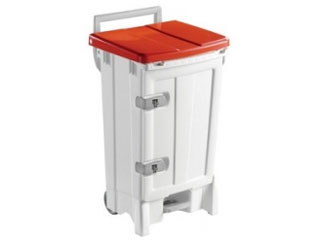 Front Opening Plastic Sack Holder 90 Litre with Red Body & Lid
