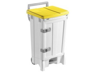 Front Opening Plastic Sack Holder 90 Litre with Yellow Body & Lid