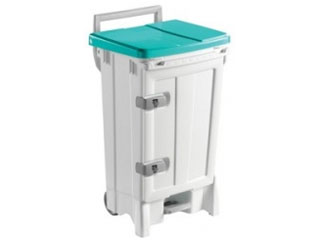 Front Opening Plastic Sack Holder 90 Litre with Green Body & Lid