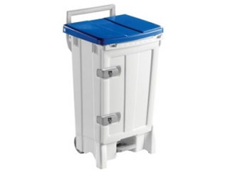 Front Opening Plastic Sack Holder 90 Litre with Blue Body & Lid